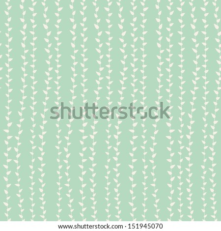 seamless pattern with leaves - stock vector