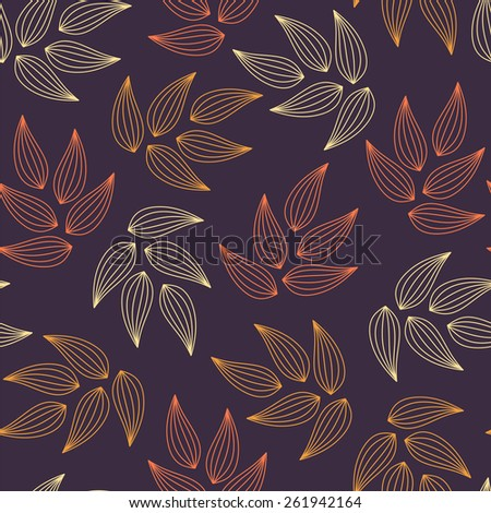 Seamless pattern with leaves. - stock vector