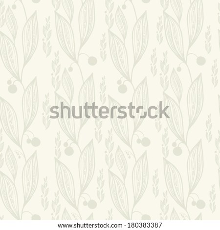 seamless pattern with leaves. vintage