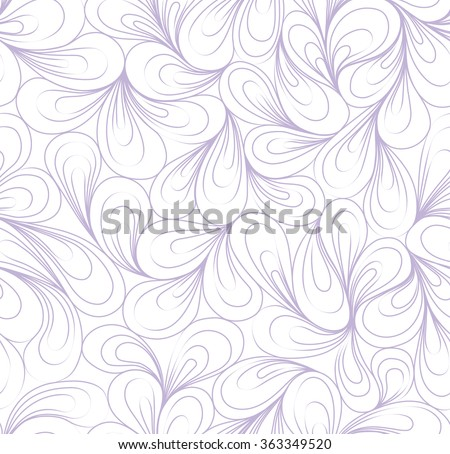 Seamless pattern with light line lilac delicate boho pattern