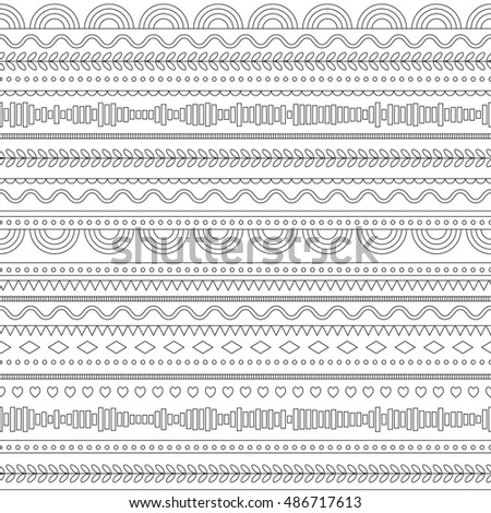 Seamless pattern with linear pattern