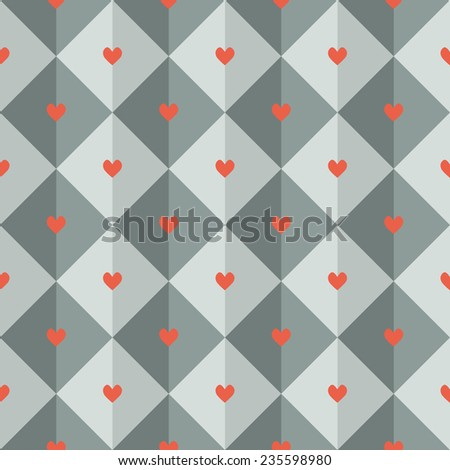 Seamless pattern with little hearts