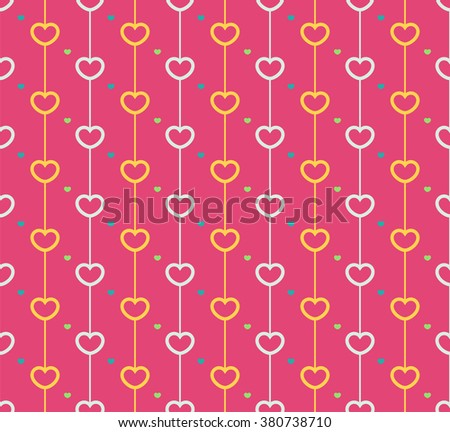 seamless pattern with love hearts.