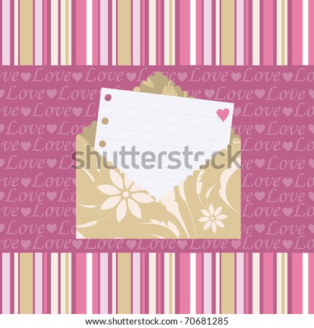 Seamless pattern with love letters - stock vector