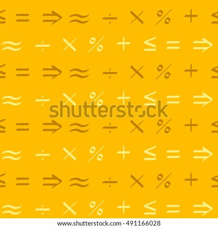Seamless pattern with mathematical symbols for your design