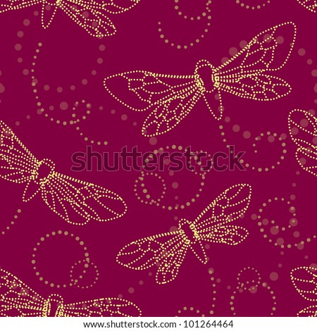 seamless pattern with moth