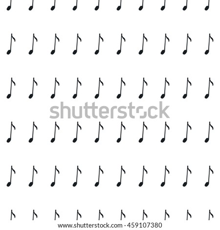 Seamless pattern with music notes. Hand-drawn background, black and white