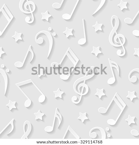 Seamless pattern with musical notes. Vector illustration.  - stock vector