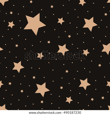 Seamless pattern with night sky and stars. Vector background. Star seamless.