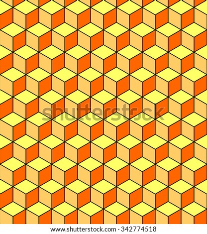 Seamless pattern with optical illusion effect. Geometric texture. Vector art. - stock vector