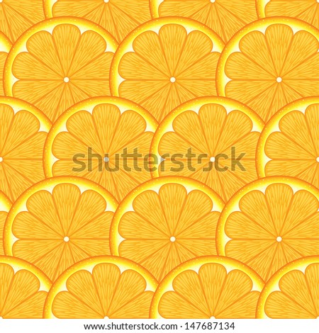 Seamless Pattern With Orange Background   - stock vector