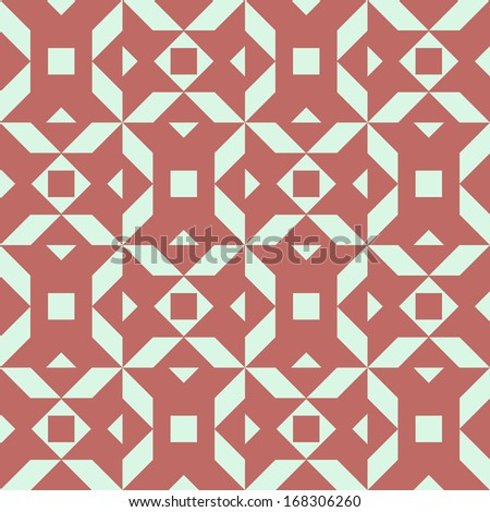 Seamless pattern with ornamental decor - stock vector