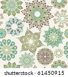 Seamless pattern with ornate flowers - stock vector