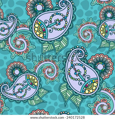seamless pattern with paisley