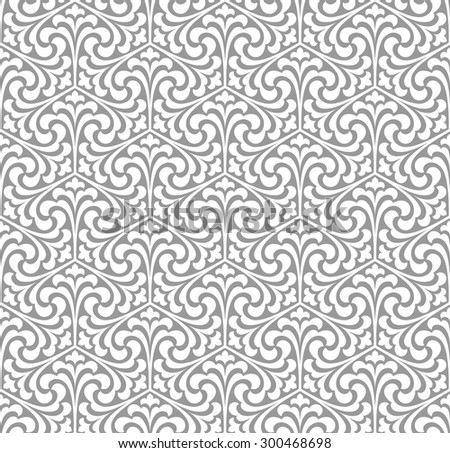 Seamless pattern with palm branches. Stylish texture of repeating geometric shapes. - stock vector