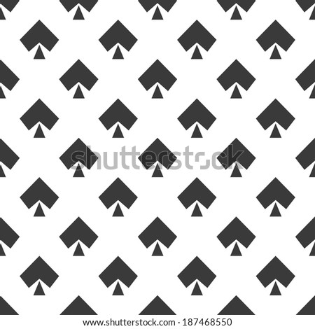 seamless pattern with peak gaming suit on a white background - stock vector