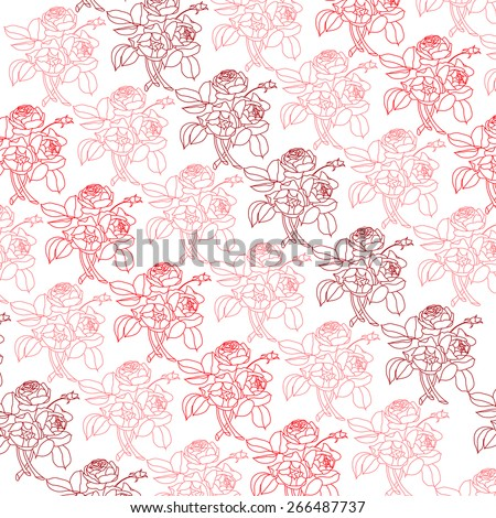 Seamless pattern with peonies