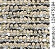 Seamless pattern with people icons for your design - stock photo
