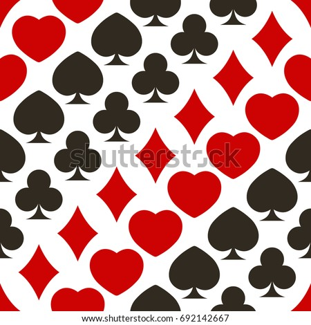 Seamless pattern with playing cards symbols for your design