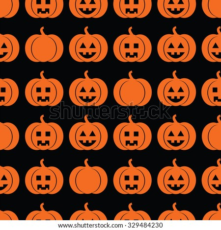 Seamless pattern with pumpkins for Halloween