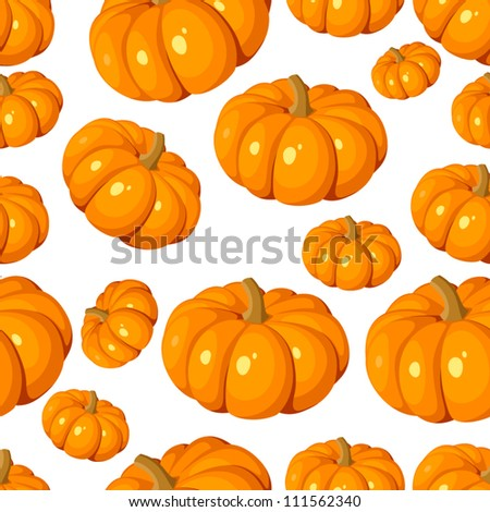 Seamless pattern with pumpkins. Vector EPS 8. - stock vector
