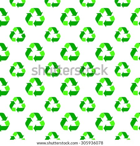 seamless pattern with recycle