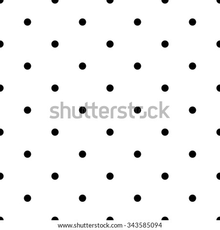 Seamless pattern with red polka dots on white  background  - stock vector