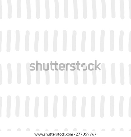 Seamless pattern with repeating elements freehand drawing vertical short rods similar to worms standing in a row of gray on a white background