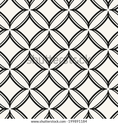 Seamless pattern with rhombuses. Vector abstract background. Stylish cell structure - stock vector