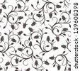 Seamless pattern with rose buds. Vector illustration. - stock photo