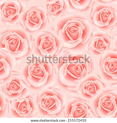 Seamless pattern with roses - stock vector