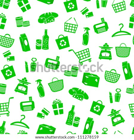 seamless pattern with shopping icons (JPEG available in my gallery)