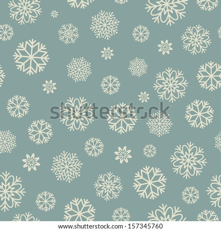 Seamless pattern with snowflakes. Vector,  EPS 8. - stock vector