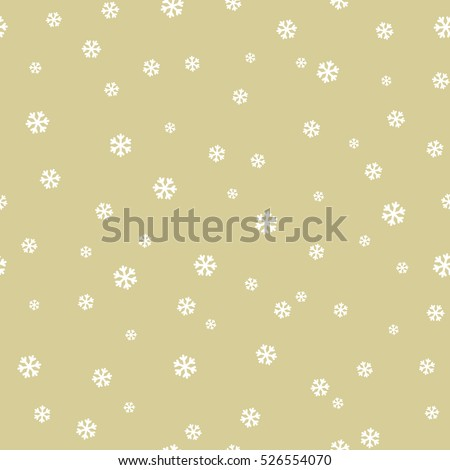 Seamless pattern with snowflakes. Vector holiday pattern