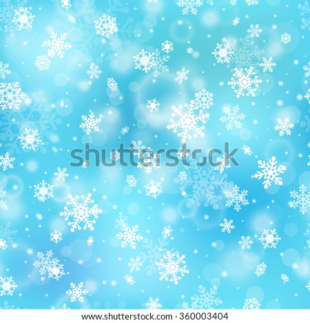 Seamless pattern with snowflakes. Winter background. - stock vector