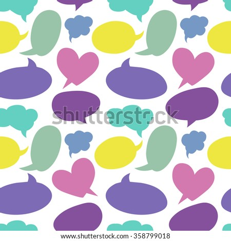 Seamless pattern with speech bubbles - stock vector