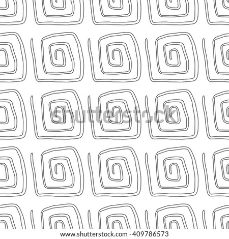 Seamless pattern with spiral curls. Vector repeating texture.