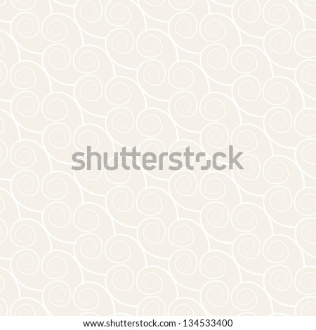 Seamless pattern with spiral curls. Vector repeating texture. Curly modern background