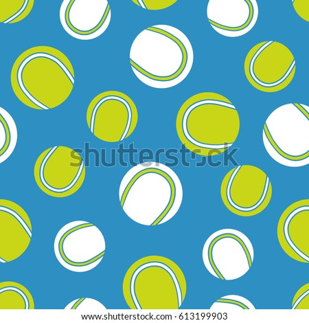 Seamless Pattern With Sports Equipment Colorful Background Vector Illustration Tennis Balls Icons