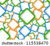 Seamless pattern with squares - stock vector