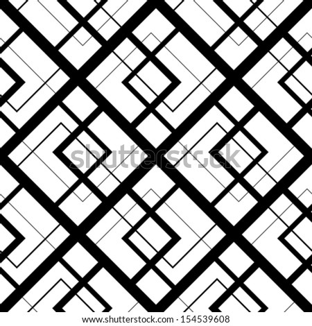 seamless pattern with squares, vector illustration - stock vector