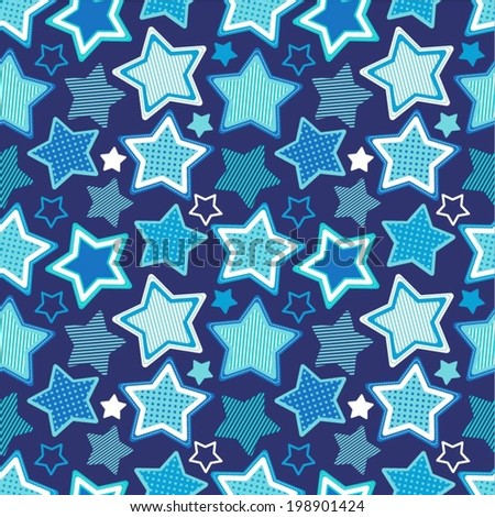 seamless pattern with stars - stock vector