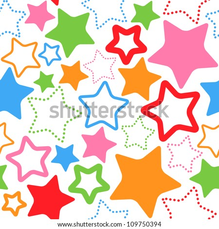 seamless pattern with stars vector - stock vector