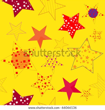 Seamless pattern with stars. Vector.