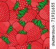 Seamless pattern with strawberries. Vector illusrtation - stock vector