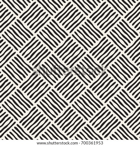 Seamless pattern with striped rhombuses. Repeating vector texture. Stylish tribal background. Modern graphic design.