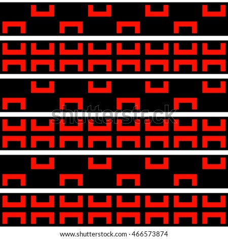 Seamless pattern with symmetric geometric ornament. Ethnic and tribal motifs. Repeated semi-squares and lines background. Creative wallpaper. Vector illustration