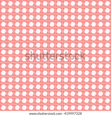 Seamless pattern with symmetric geometric ornament. Red sharp lines stylized lights abstract background. 3d optical illusion effect wallpaper. Vector illustration - stock vector