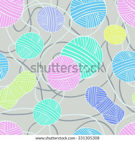 seamless pattern with threads 5