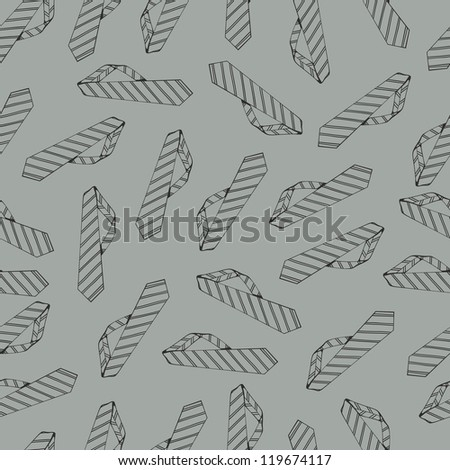 Seamless pattern with ties